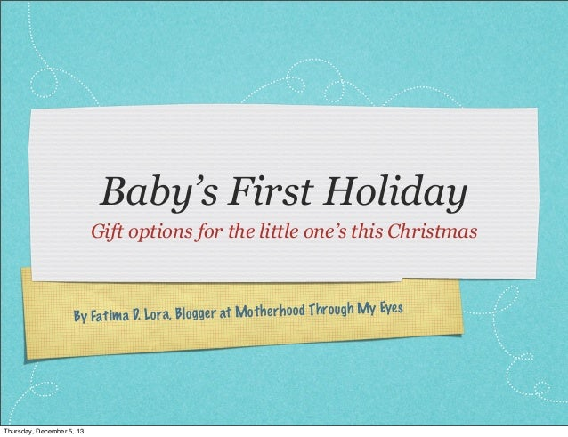 Baby's First Holiday Gift options for the little one's this Christmas  es  ra, Bl og ge r at Mot he rh oo d Th ro ugh My E...