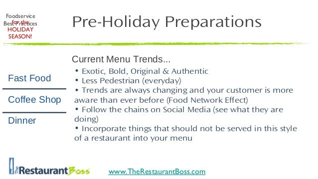 Restaurant Kitchen Best Practices restaurant marketing: holiday best practices for your restaurant 2013
