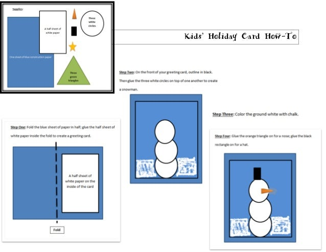 Kids' Holiday Card How-To
