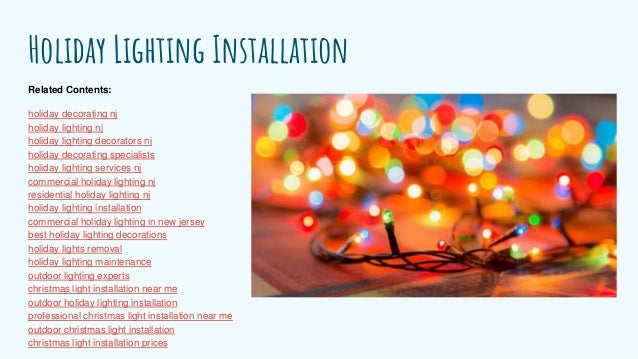 holiday lighting installation related contents holiday decorating nj - Outdoor Christmas Decorations Nj