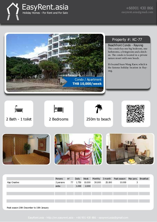 Holiday homes for rent rayong thailand for Bedroom 77 rayong pantip