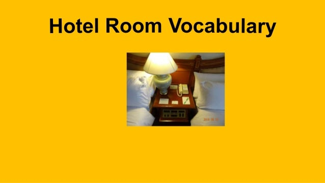 Holiday Inn Hotel Room Vocabulary
