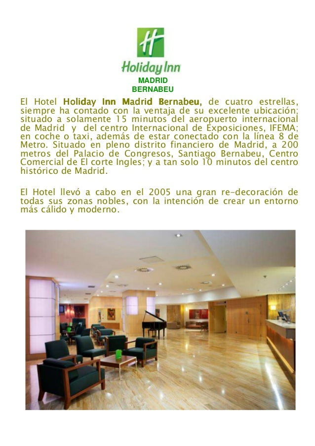 MADRID BERNABEU El Hotel Holiday Inn Madrid Bernabeu,Holiday Inn Madrid Bernabeu,Holiday Inn Madrid Bernabeu,Holiday Inn M...