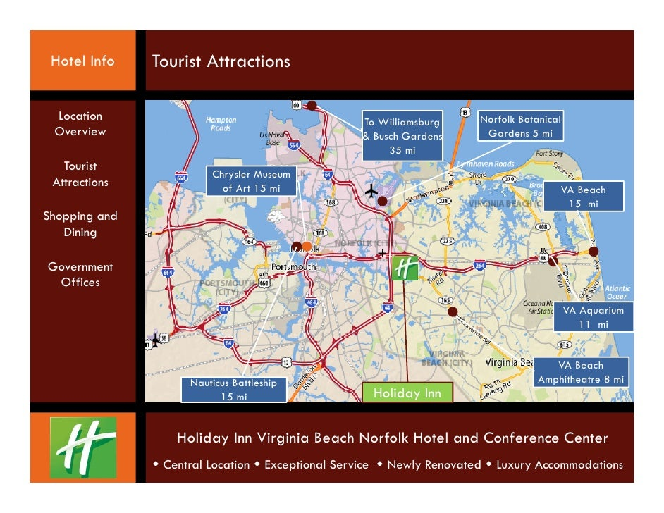 Holiday Inn Virginia Beach Norfolk Hotel and Confernce Center – Virginia Beach Tourist Attractions Map
