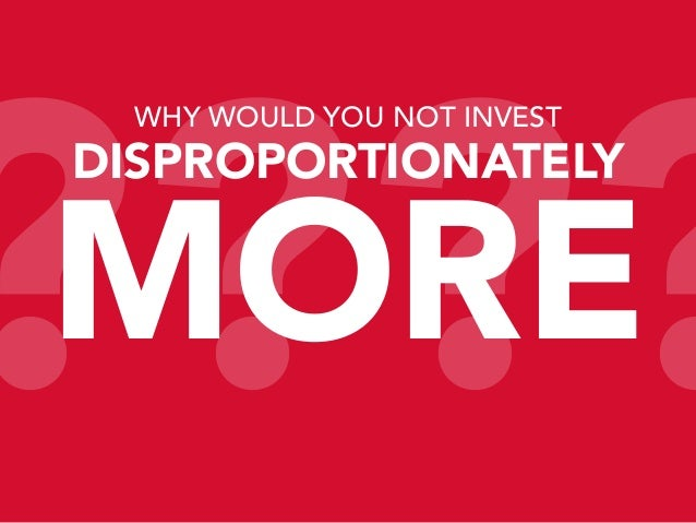 ???? WHY WOULD YOU NOT INVEST  DISPROPORTIONATELY  MORE
