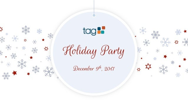 Holiday Party December 9th, 2017