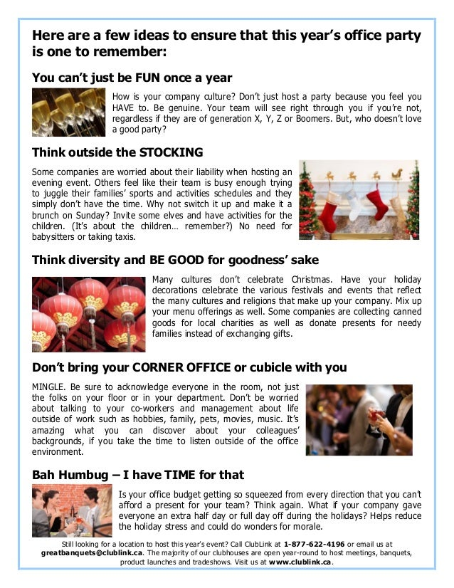 Great Ideas For Holiday Office Parties from image.slidesharecdn.com