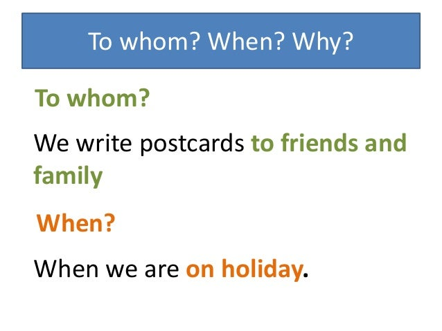 how to write a vacation postcard