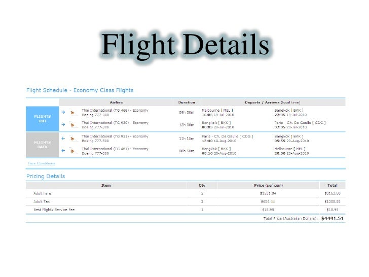 FlightDetails<br />