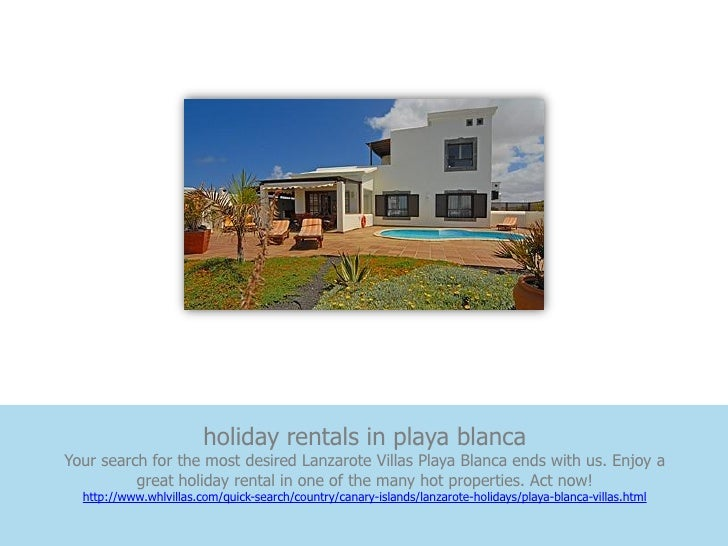 holiday rentals in playa blancaYour search for the most desired Lanzarote Villas Playa Blanca ends with us. Enjoy a       ...