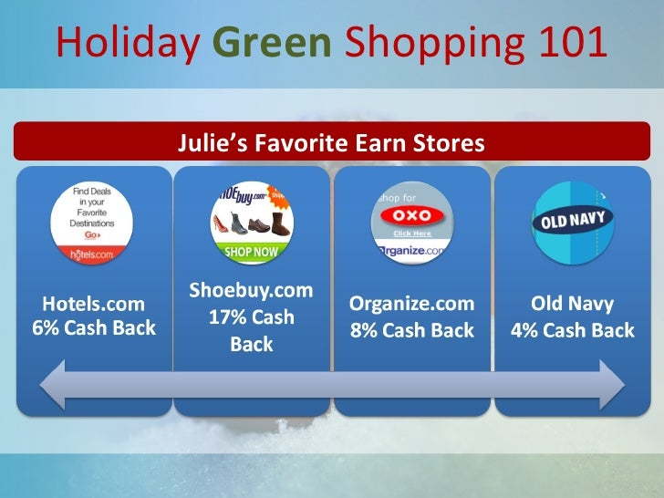 Holiday  Green  Shopping 101 Julie's Favorite Earn Stores
