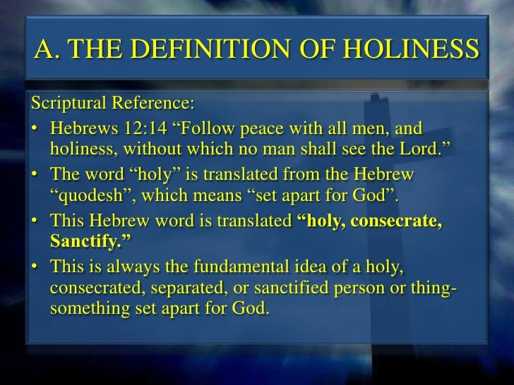 how to live in holiness