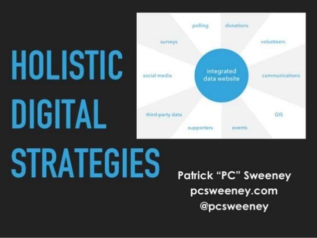 Holistic digital strategies
