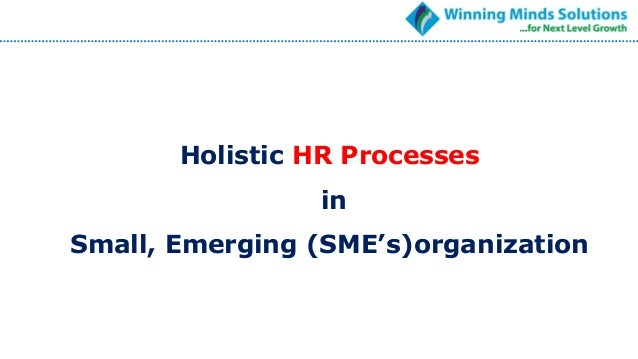 Holistic HR Processes in Small, Emerging (SME's)organization