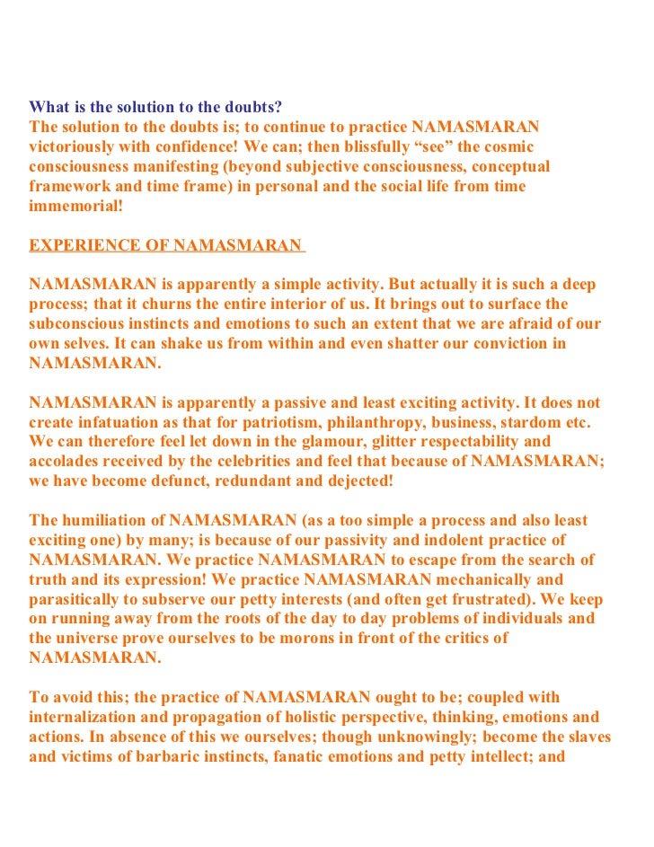 Holistic renaissance and namasmaran dr shriniwas kashalikar