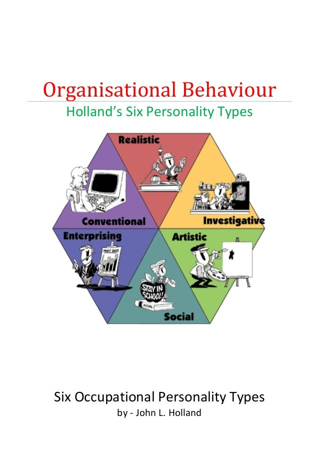 Organisational Behaviour Holland's Six Personality Types Six Occupational Personality Types by - John L. Holland