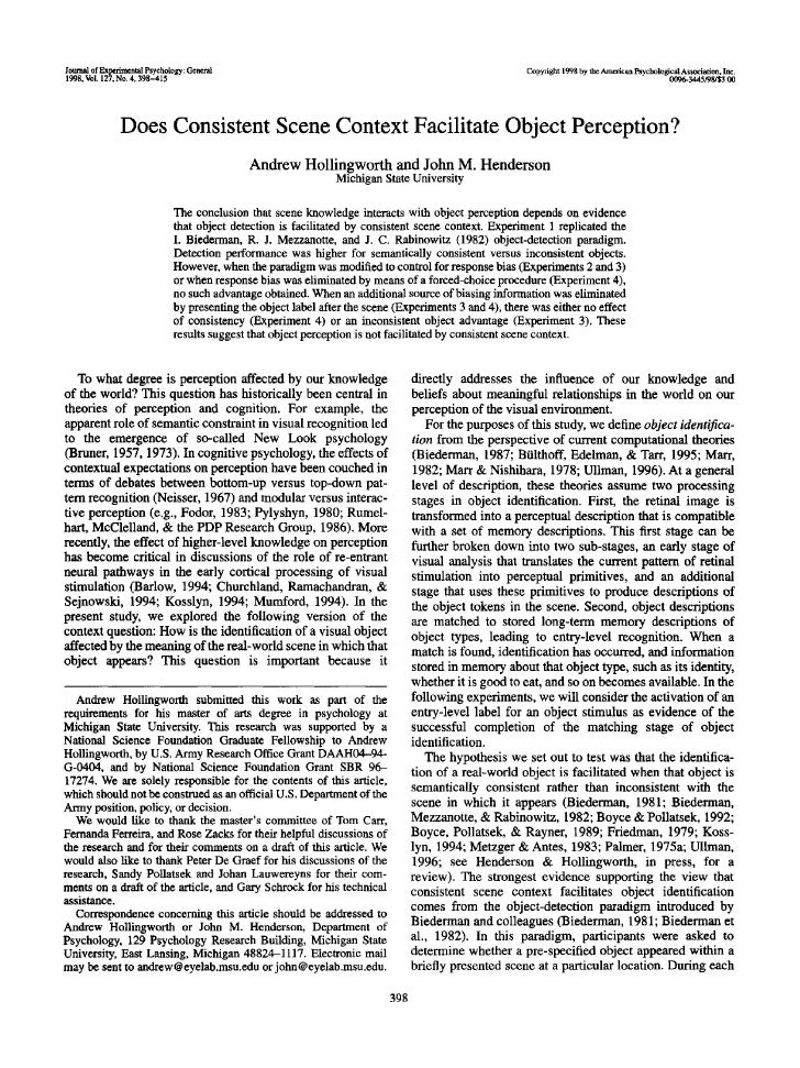 Journal of Experimental Psychology: General                                                              Copyright 1998 by...