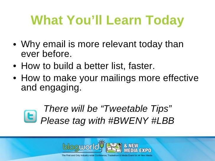 List Building for Bloggers Slide 2