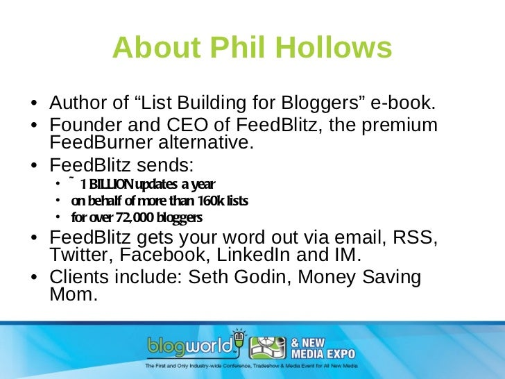 List Building for Bloggers Slide 3