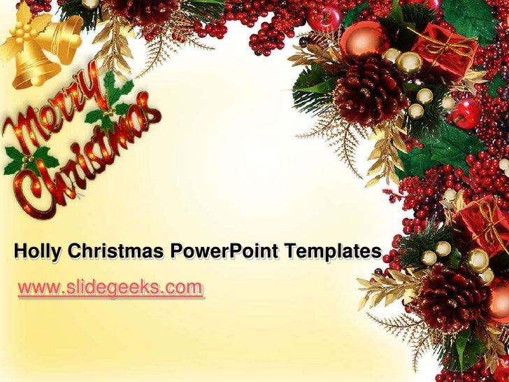 Holly christmas power point templates holly christmas powerpoint templatesbr toneelgroepblik Gallery