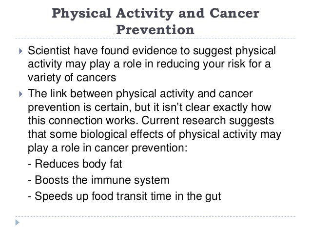 Diet and Physical Activity: What's the Cancer Connection?