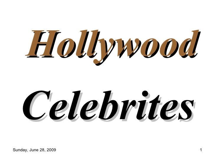 Hollywood Celebrites