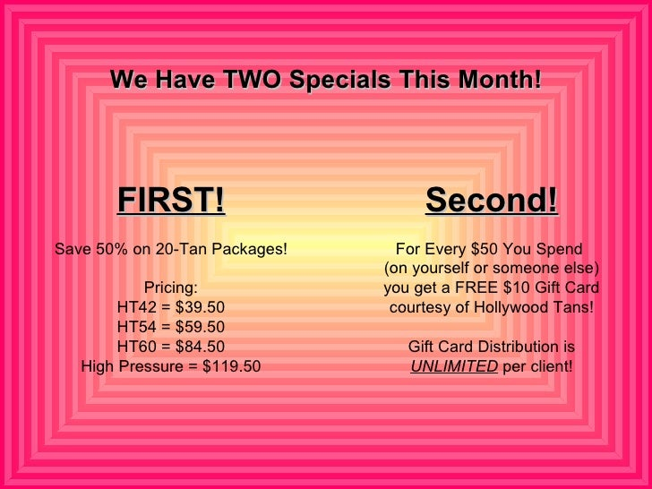 Hollywood tan coupons