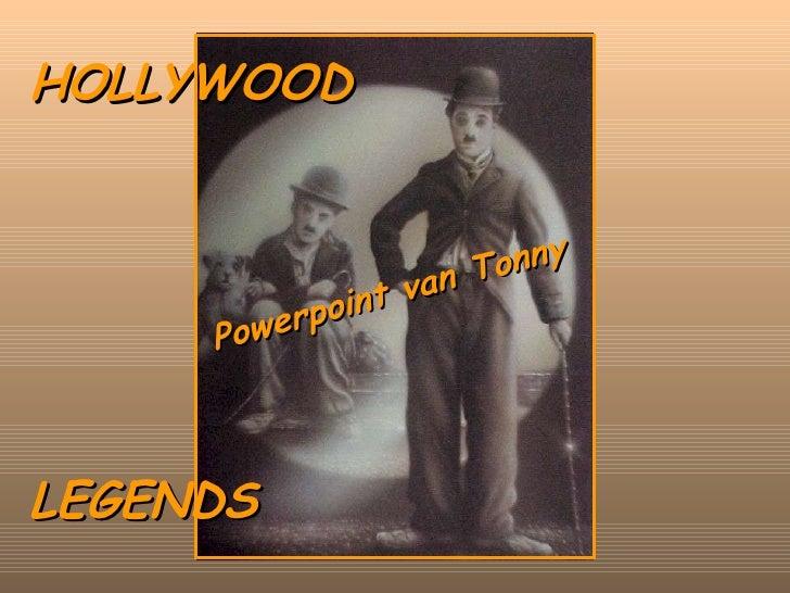 HOLLYWOOD LEGENDS Powerpoint van Tonny