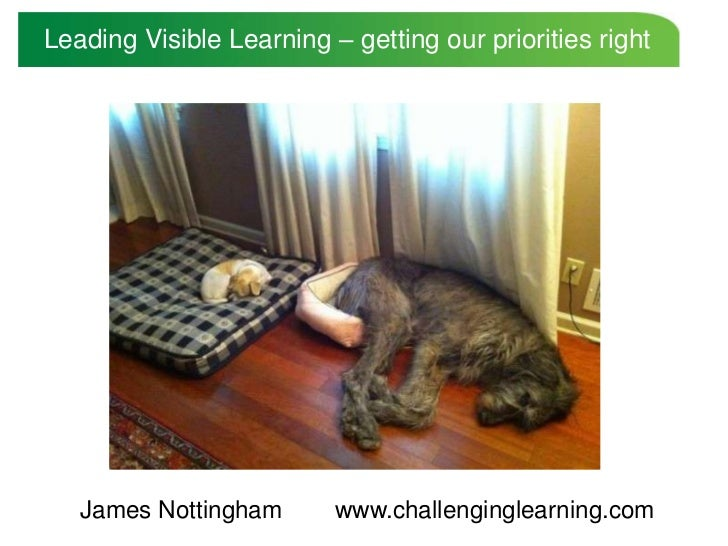 Leading Visible Learning – getting our priorities right   James Nottingham       www.challenginglearning.com