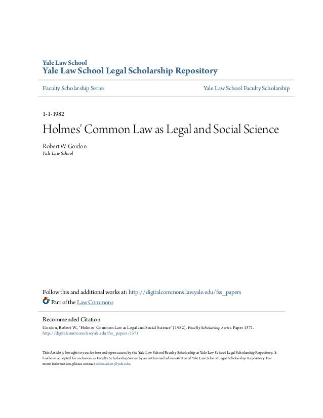 Yale Law School  Yale Law School Legal Scholarship Repository Faculty Scholarship Series  Yale Law School Faculty Scholars...