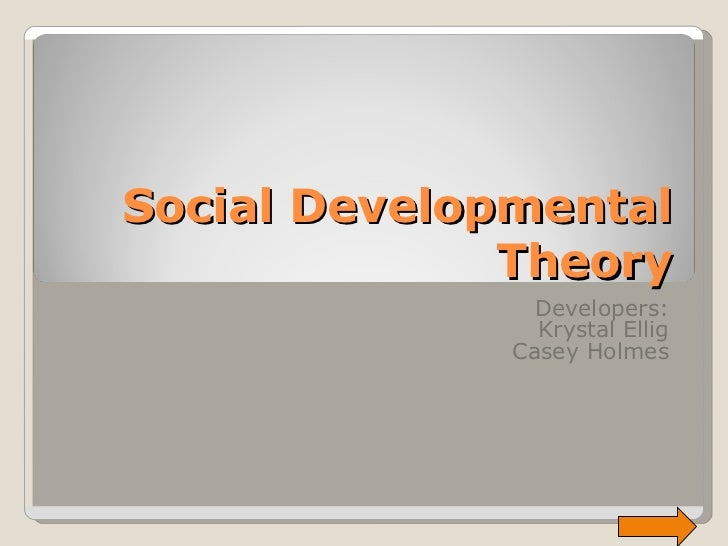 Social Developmental Theory Developers: Krystal Ellig Casey Holmes