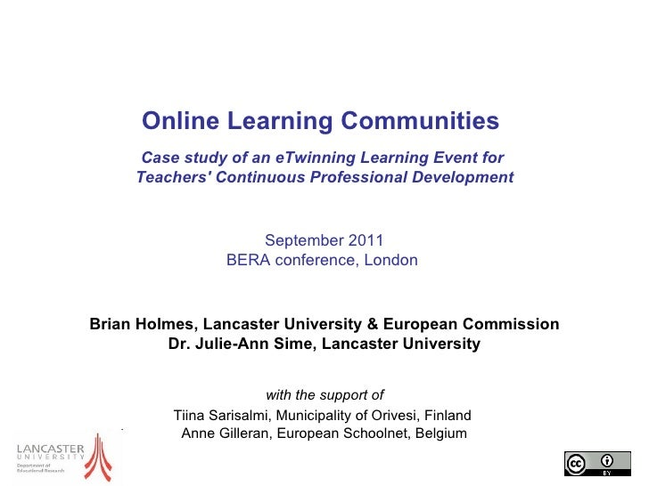 Online Learning Communities  Case study of an eTwinning Learning Event for  Teachers' Continuous Professional Development ...