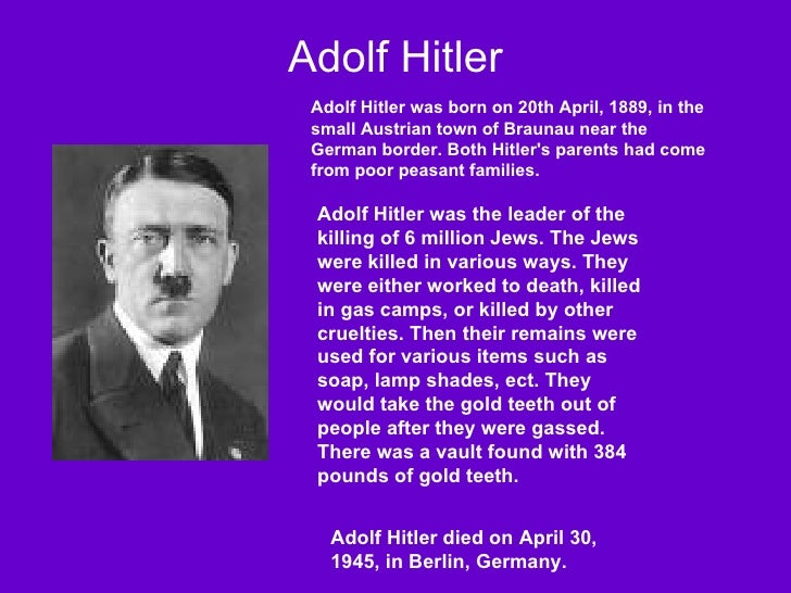 an examination of the reasons why adolf hitler hated the jews What was hitler's reason for hating the jews adolf hitler's hatred of the jewswas one one reason why hitler hated the jews was because when he was a.