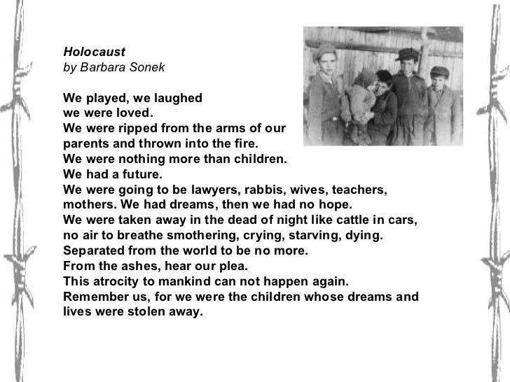 Holocaust Poems 1
