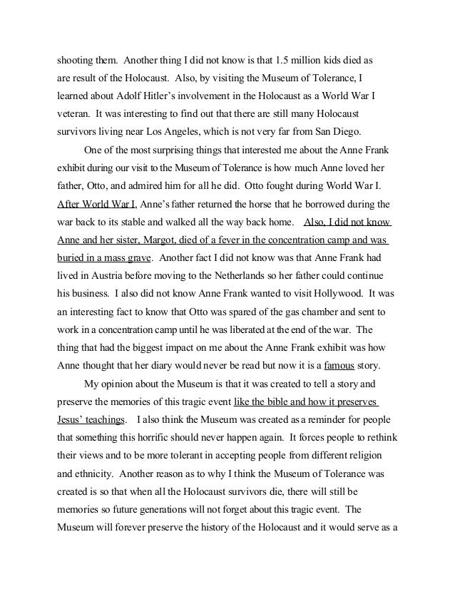 5 paragraph essay holocaust Notes: 1 a version of this article with the title the secular word holocaust:  scholarly myths, history, and 20th century meanings was published in journal of.