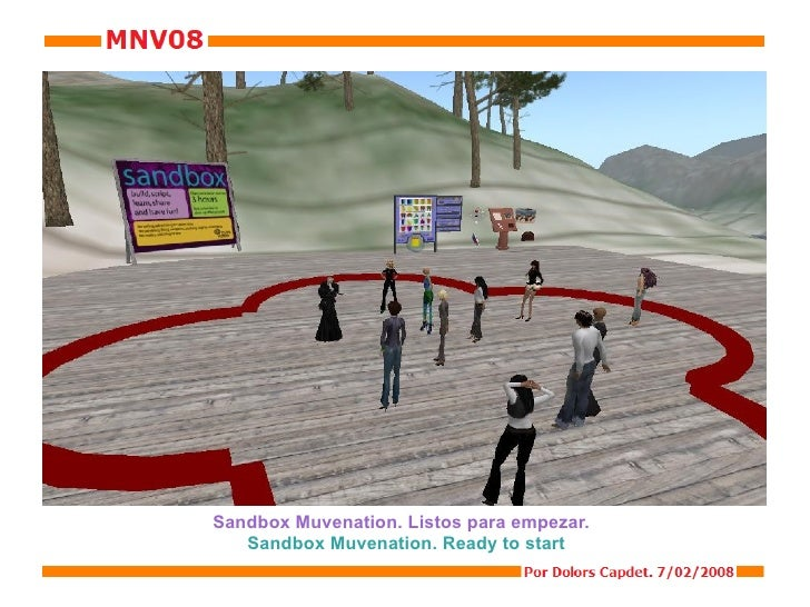 Sandbox Muvenation. Listos para empezar.  Sandbox Muvenation. Ready to start