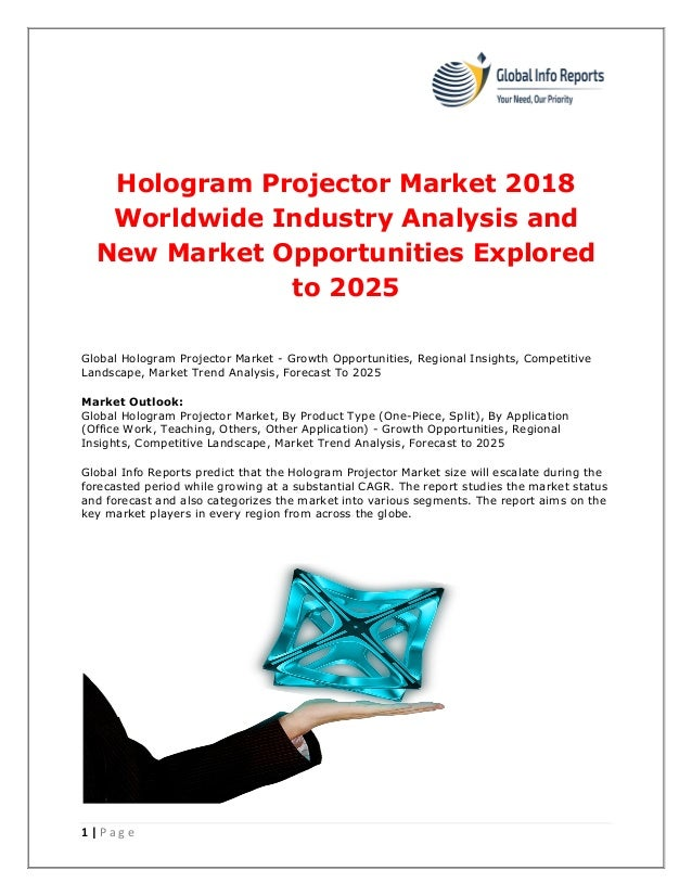 Hologram projector market 2018 worldwide industry analysis and new ma…