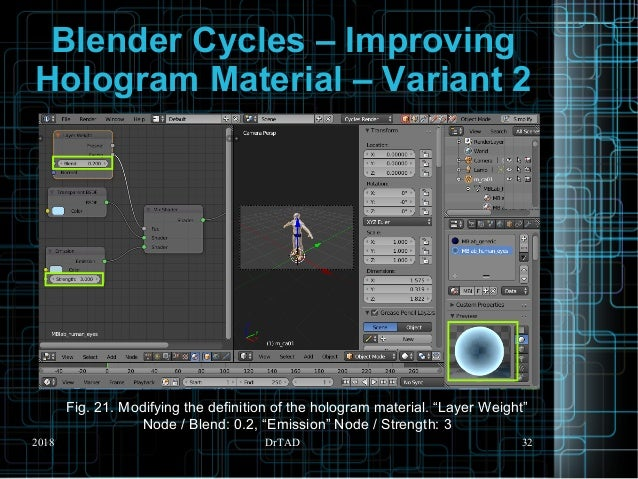 DrTAD Blender Cycles – Creating Human Character + Hologram