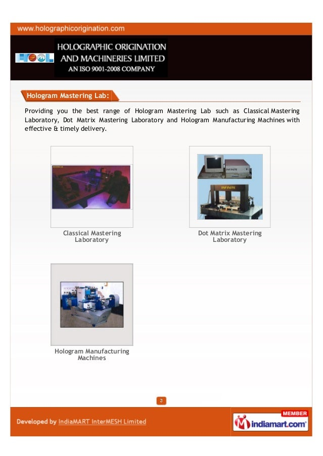 Holographic Origination and Machineries Limited, Kolkata , Holograms Slide 3