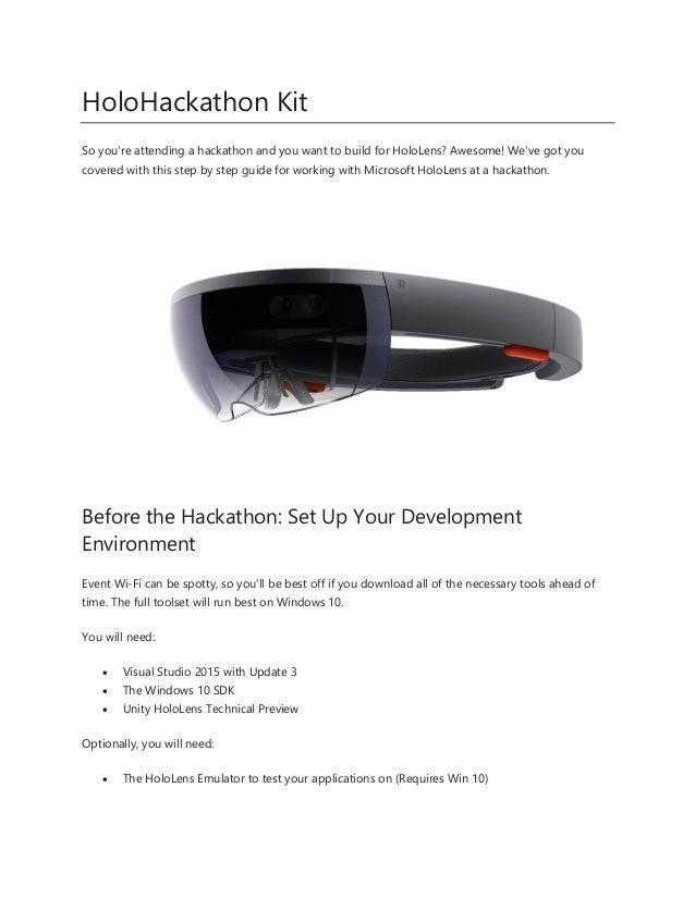 Holo Hackathon Kit