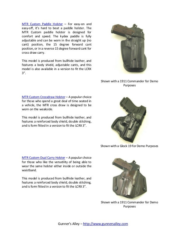 Gun Holsters for the Ruger LCRX 3