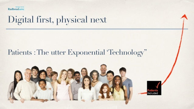 "Patients :The utter Exponential 'Technology"" Digital first, physical next"