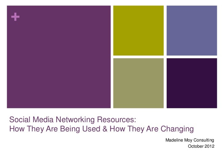 +Social Media Networking Resources:How They Are Being Used & How They Are Changing                                       M...