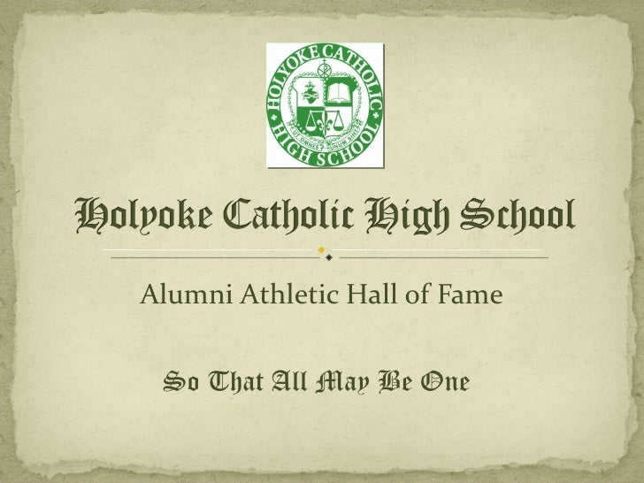 Alumni Athletic Hall of Fame So That All May Be One