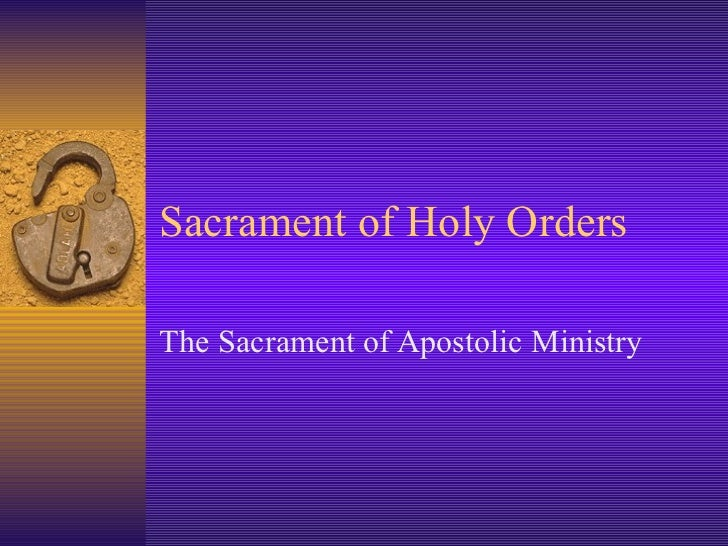Holy Orders Sacrament Meaning images