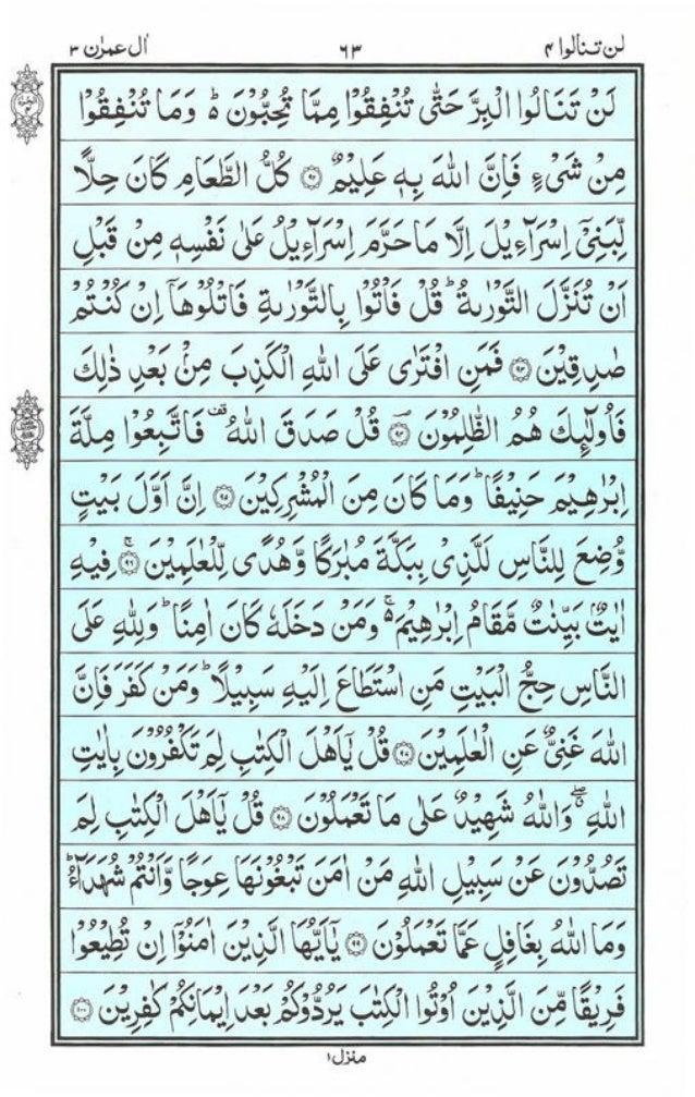 Surah Al Imran Pdf