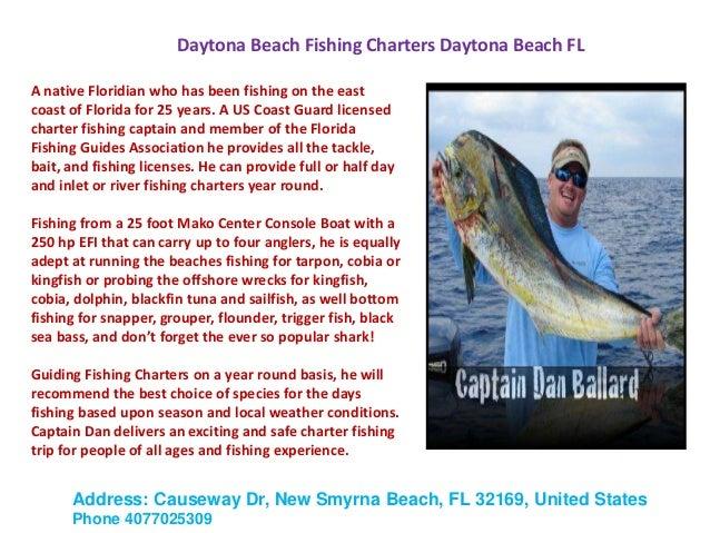 Daytona beach fishing charters daytona beach fl fishing for Florida 3 day fishing license