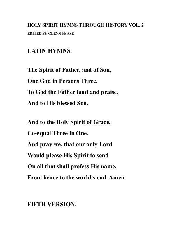 Holy spirit hymns through history vol  2
