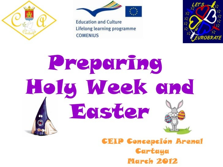 PreparingHoly Week and   Easter     CEIP Concepción Arenal            Cartaya          March 2012