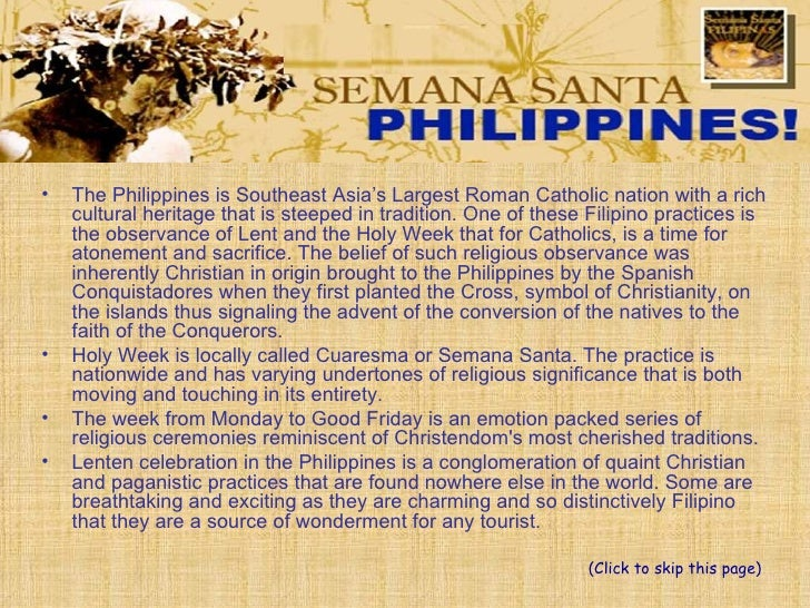 Holy Week in the Philippines Slide 2